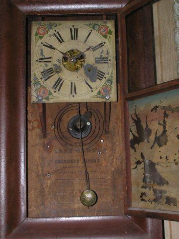 ANTIQUE CLOCK WATERBURY CALENDAR Clock Setup  LABEL parts