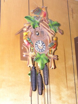 TWO BELLOW TOPS CUCKOO CLOCK PARTS 1 1//4 X 2 inch #4