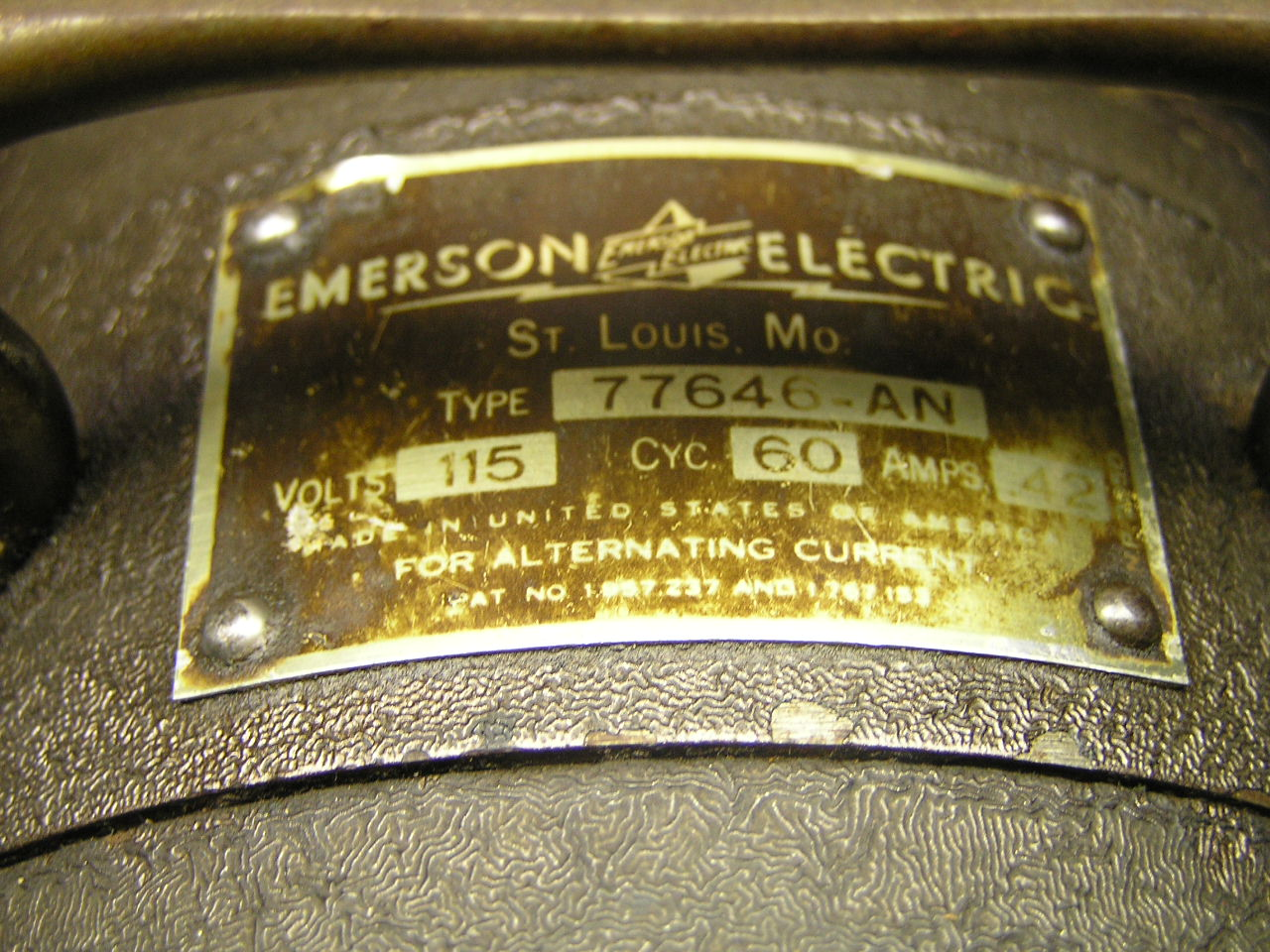Emerson 77646 Fan Wiring Hunter Ceiling Diagram Antique An Pre 1950 Collectors